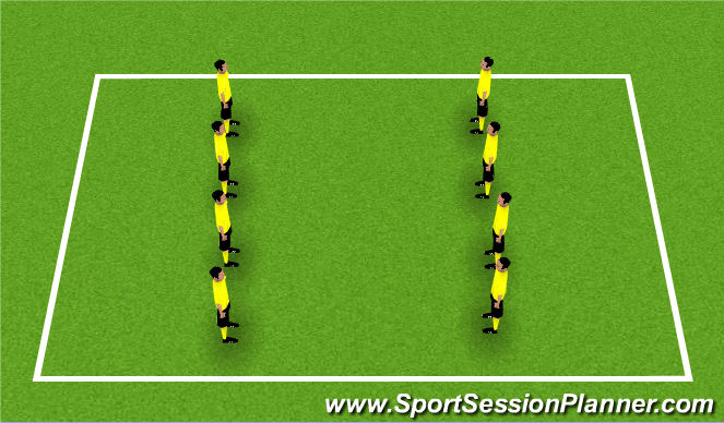 Football/Soccer Session Plan Drill (Colour): CORE/HAMSTRING Strengthening