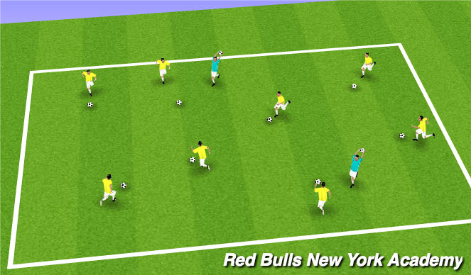 Football/Soccer Session Plan Drill (Colour): Aliens vs. Astronauts