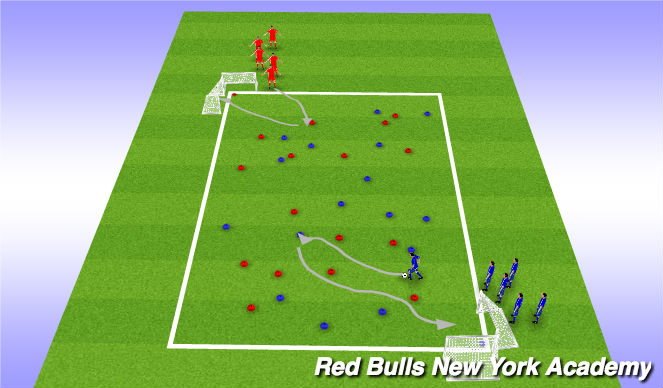 Football/Soccer Session Plan Drill (Colour): Pirates Treasure
