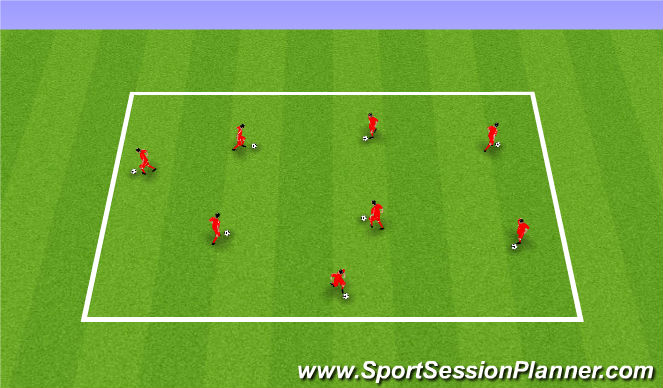 Football/Soccer Session Plan Drill (Colour): RWTB - Exploring different turning surfaces