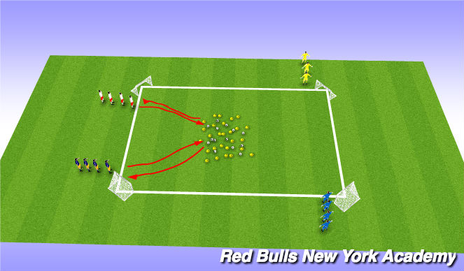Football/Soccer Session Plan Drill (Colour): Krabby Patty