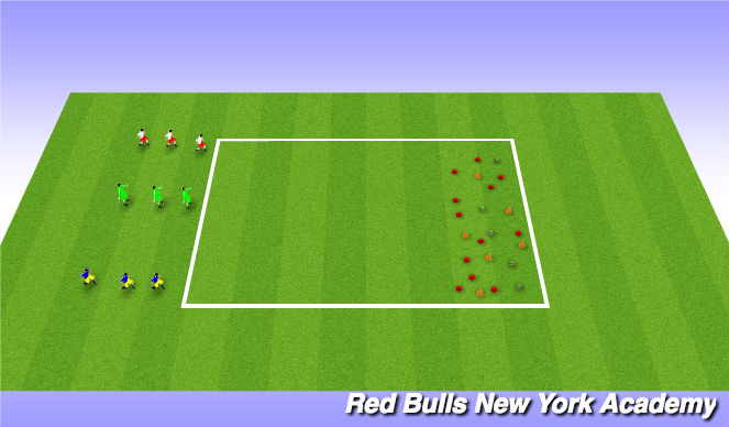 Football/Soccer Session Plan Drill (Colour): Mini kick Treasure Chest