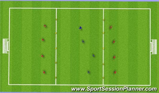 Football/Soccer Session Plan Drill (Colour): Possession- Defensive Movement