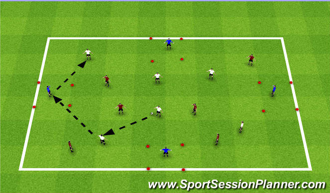Football/Soccer Session Plan Drill (Colour): Short Pass Switching