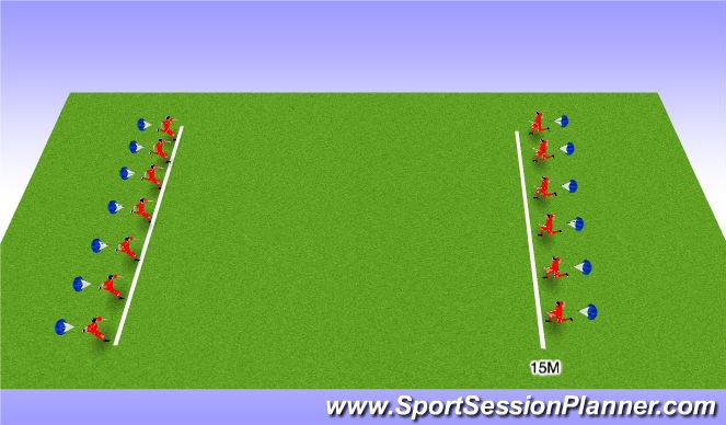 Football/Soccer Session Plan Drill (Colour): Sprints with Little Rest