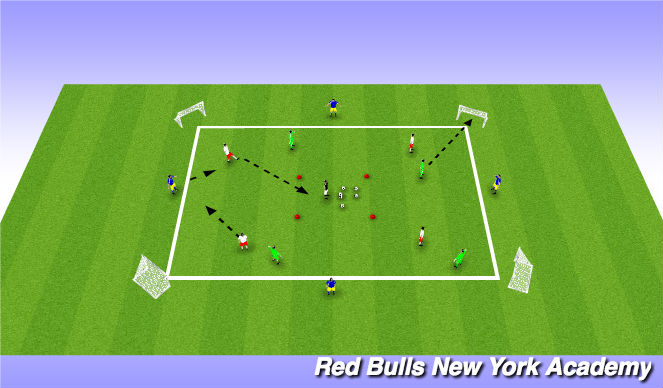 Football/Soccer Session Plan Drill (Colour): 8v4