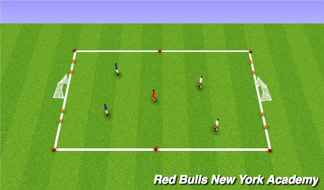 Football/Soccer Session Plan Drill (Colour): Free Play 3v2