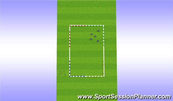 Football/Soccer Session Plan Drill (Colour): Warm up/Acitvator.