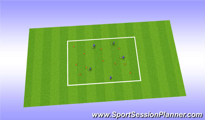 Football/Soccer Session Plan Drill (Colour): Zoo Game