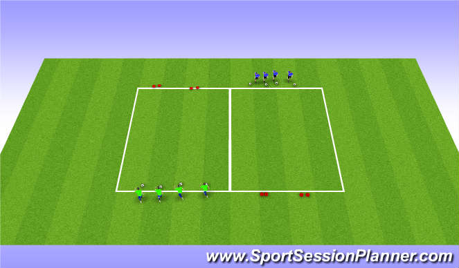 Football/Soccer Session Plan Drill (Colour): Goal