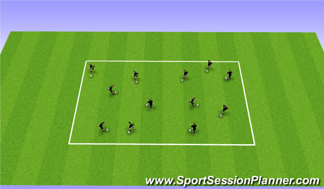 Football/Soccer Session Plan Drill (Colour): Ball Each Warm Up