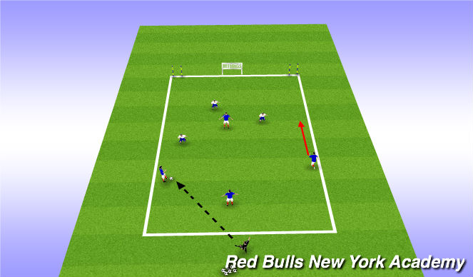 Football/Soccer Session Plan Drill (Colour): Positional Exercise