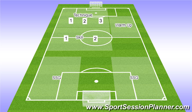 Football/Soccer Session Plan Drill (Colour): Field Format