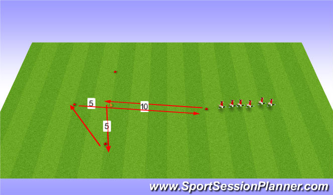 Football/Soccer Session Plan Drill (Colour): Agility Speed