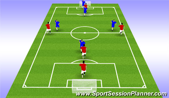 Football/Soccer Session Plan Drill (Colour): SSG Sweeper Opponent in Possession