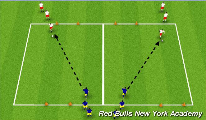 Football/Soccer Session Plan Drill (Colour): Main Theme1