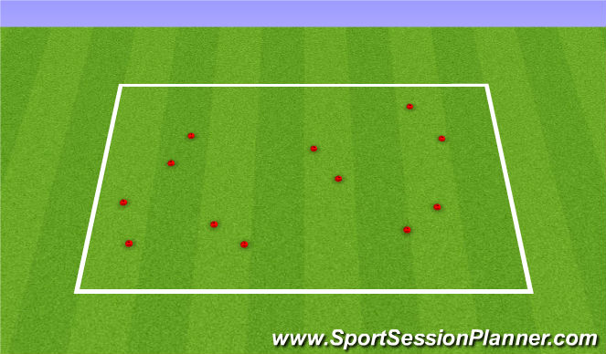 Football/Soccer Session Plan Drill (Colour): Station 3: First Touch