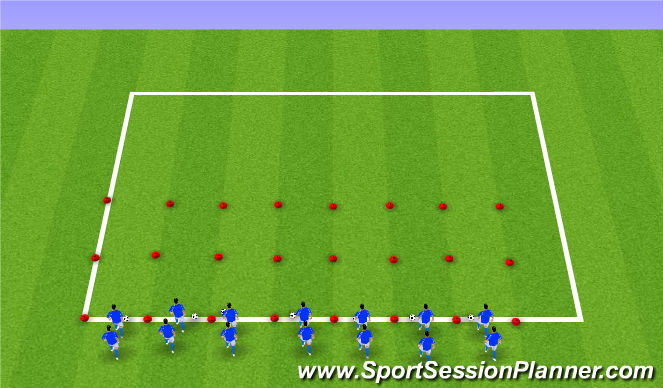 Football/Soccer Session Plan Drill (Colour): Station 4: Change of Direction