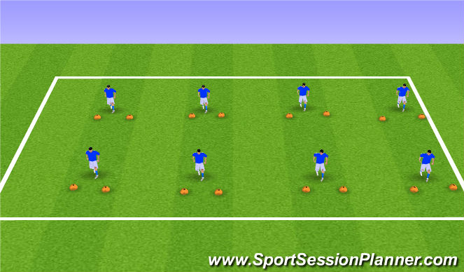Football/Soccer Session Plan Drill (Colour): Station 2: Ball Mastery w/ Gates