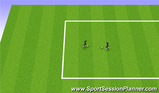 Football/Soccer Session Plan Drill (Colour): Station 4: 1v1 moves