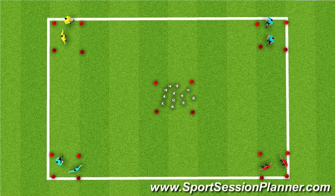 Football/Soccer Session Plan Drill (Colour): robin hood