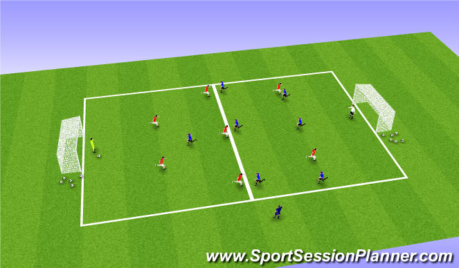 Football/Soccer Session Plan Drill (Colour): 8v8 Conditioning Game (Fitness Overload)