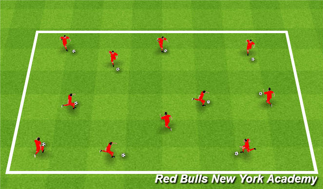 Football/Soccer Session Plan Drill (Colour): Treasure Hunting