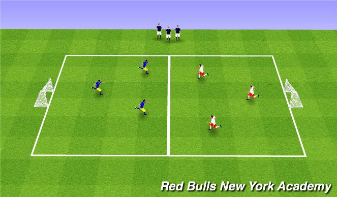 Football/Soccer Session Plan Drill (Colour): 3v3v3