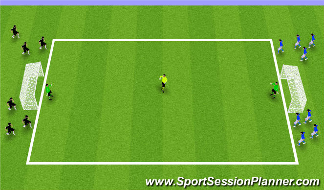 Football/Soccer Session Plan Drill (Colour): Transition 1 Touch Game
