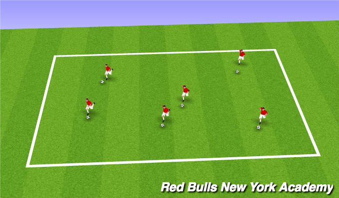 Football/Soccer Session Plan Drill (Colour): Warm up(10m)