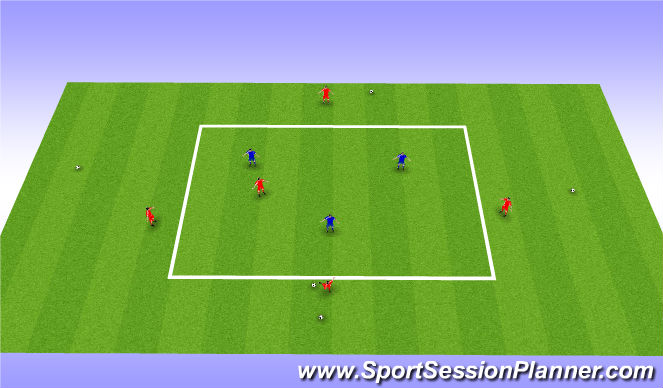 Football/Soccer Session Plan Drill (Colour): 5v3 Dutch style keep away