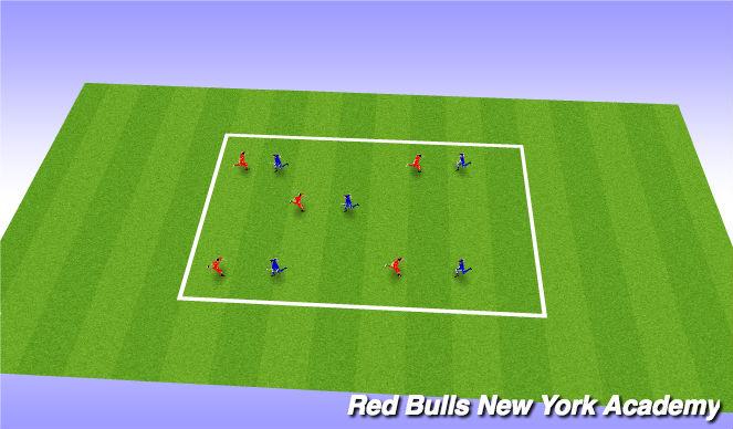 Football/Soccer Session Plan Drill (Colour): W.U