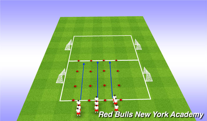 Football/Soccer Session Plan Drill (Colour): Warm up, Running with Ball