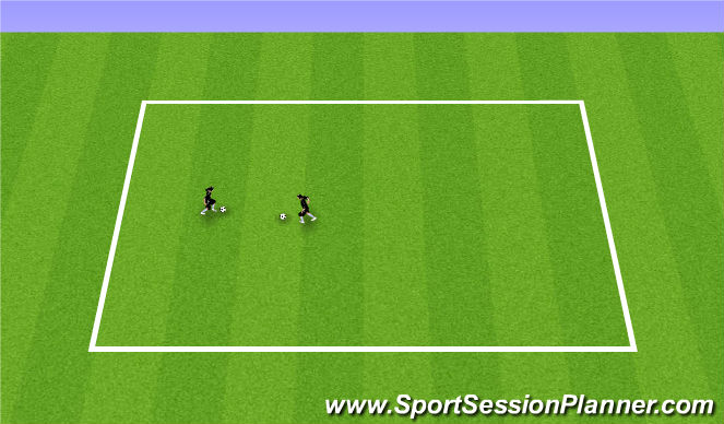 Football/Soccer Session Plan Drill (Colour): Station 4: 1v1 moves