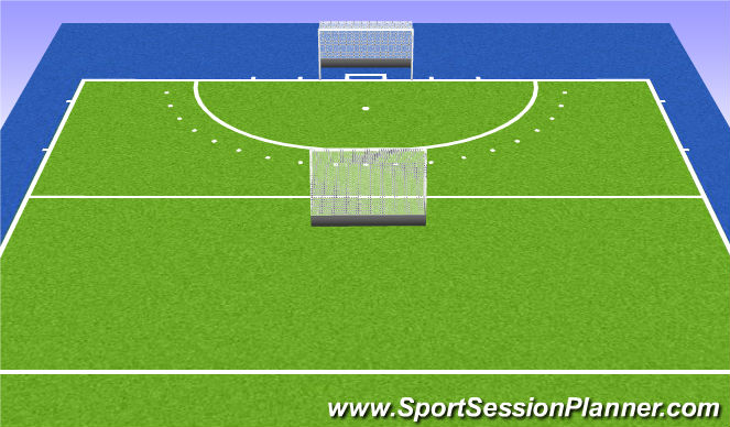 Hockey Session Plan Drill (Colour): 4:4:4