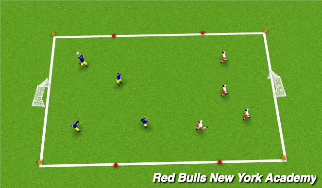 Football/Soccer Session Plan Drill (Colour): SAC Warm-up: team handball