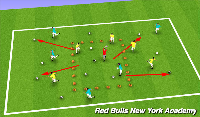 Football/Soccer Session Plan Drill (Colour): Buzz Lightyear