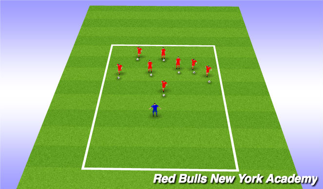 Football/Soccer Session Plan Drill (Colour): speed racer