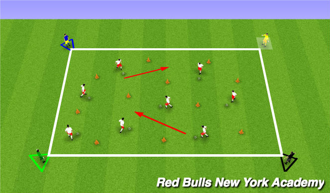 Football/Soccer Session Plan Drill (Colour): Zoo Road Trip