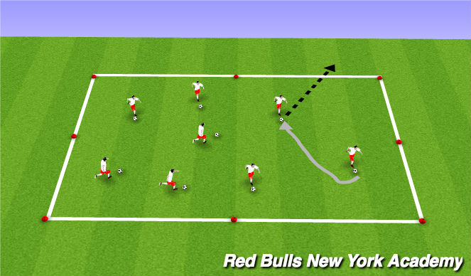 Football/Soccer Session Plan Drill (Colour): Knock out