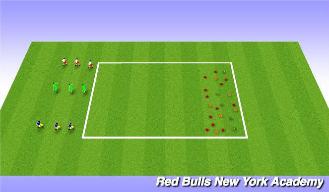 Football/Soccer Session Plan Drill (Colour): Mini kick Treasure Chest