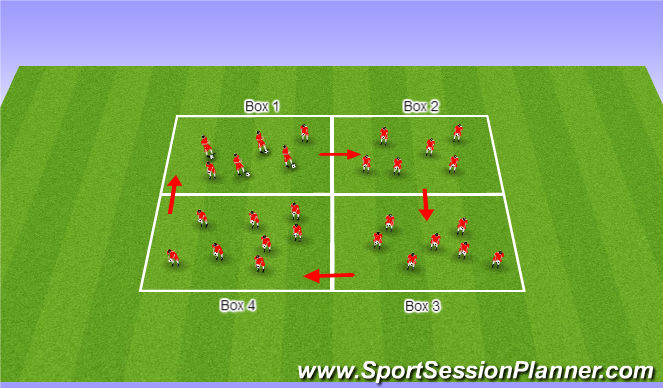 Football/Soccer Session Plan Drill (Colour): Pine Glen