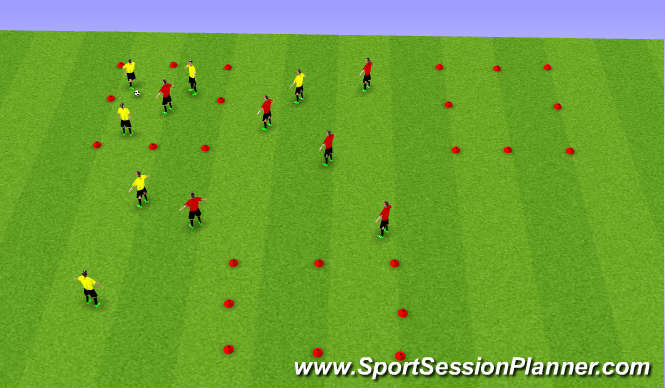 Football/Soccer Session Plan Drill (Colour): Tiki Tak