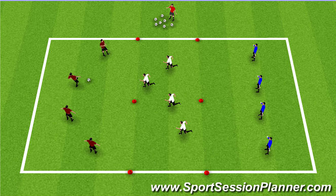 Football/Soccer Session Plan Drill (Colour): Center Press