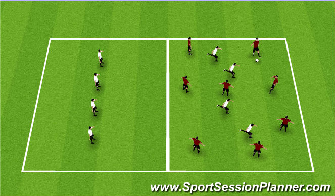 Football/Soccer Session Plan Drill (Colour): Two Squares