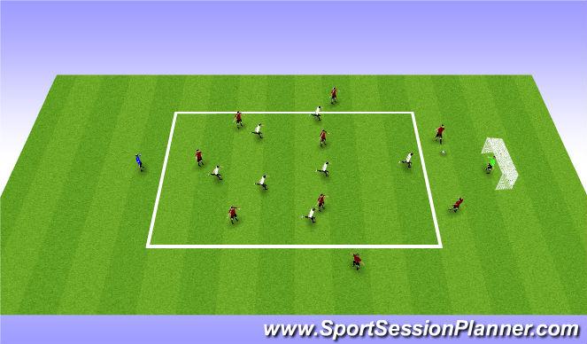 Football/Soccer Session Plan Drill (Colour): 7 v 9 Press