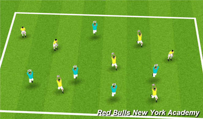 Football/Soccer Session Plan Drill (Colour): Motor Skill - Warm up