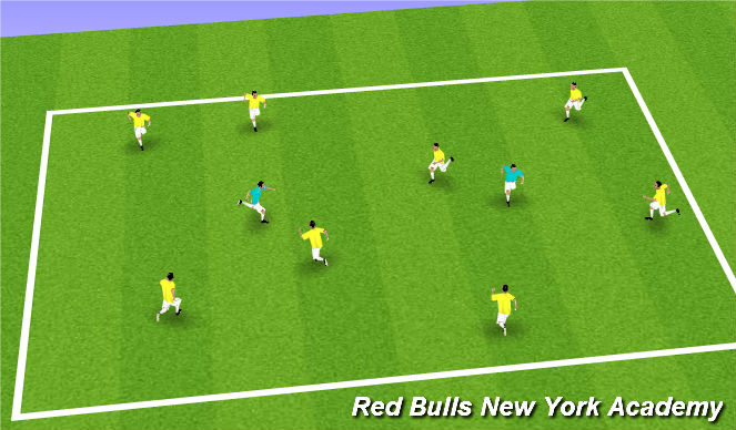 Football/Soccer Session Plan Drill (Colour): Alien Tag