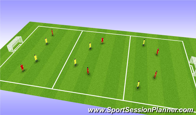 Football/Soccer Session Plan Drill (Colour): Off the Ball - Skill Training