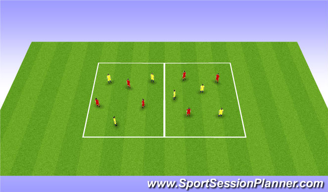 Football/Soccer Session Plan Drill (Colour): Off the Ball - Skill Intro